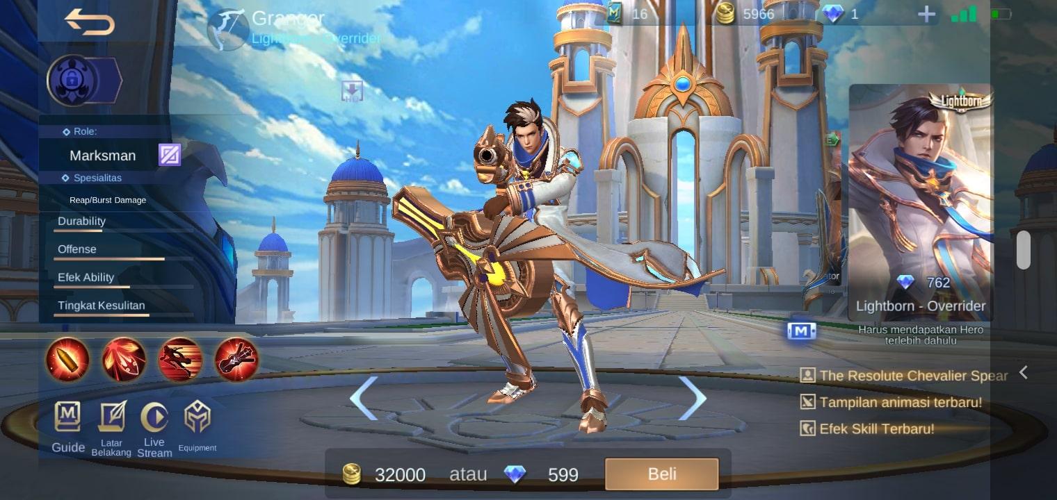 Granger - Skin mobile legends terbaru 2020