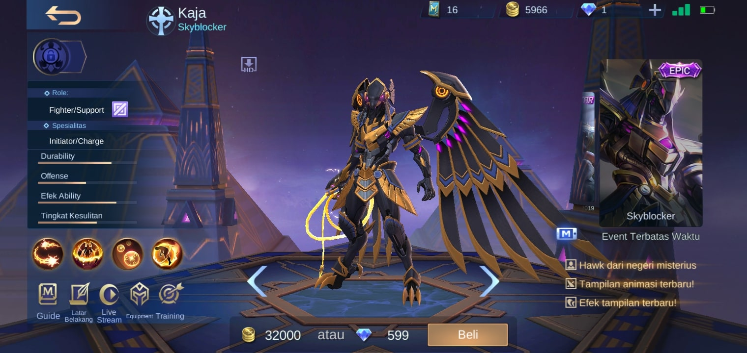 Kaja - Skin mobile legends terbaru 2020