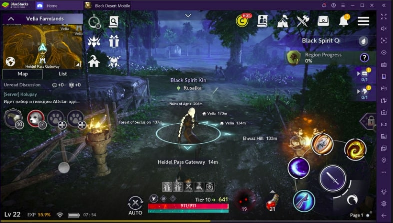Cara bermain game black desert mobile di pc