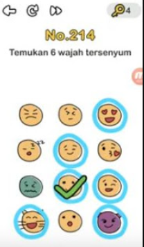 temukan 6 wajah tersenyum brain out