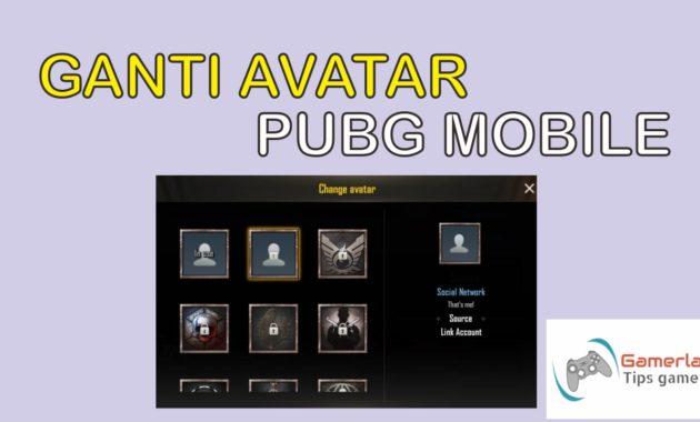 cara mengganti avatar pubg mobile