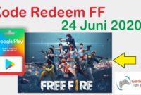 kode redeem ff 24 juni 2020