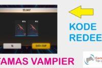 kode redeem ff famas vampier