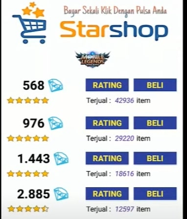star shop mobile legend
